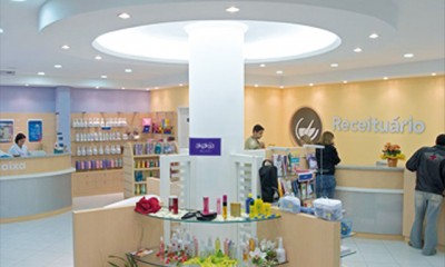 Interior da farmácia